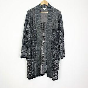 J.Jill Wool Blend Open Front Cardigan Size Medium